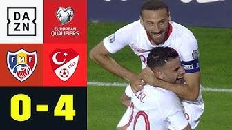 Doppelpack Tosun beschert Türkei Tabellenführung | Moldawien - Türkei 0:4 | EM-Quali | DAZN