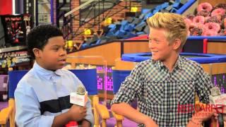 Lil P Nut & Thomas Kuc at Nickelodeon's Game Shakers Press Day #GameShakers #CastInterviews