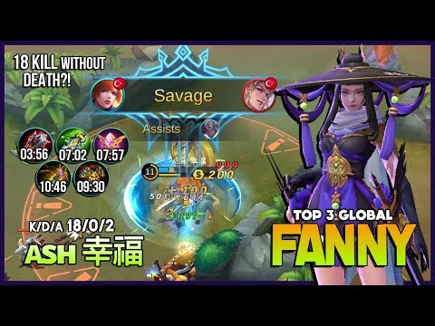 Crazy Cable Skylark with Perfect Savage by ᴀsн 幸福 Top 3 Global Fanny ~ Mobile Legends