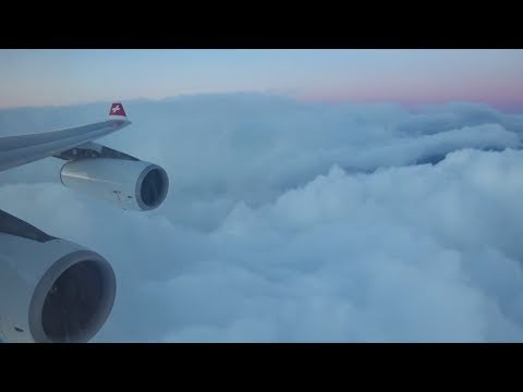 Swiss A340 300 - Beautiful Skies Landing at Zurich Airport