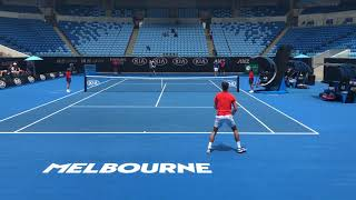 Novak Djokovic v Andy Murray 2019 AO practice (HD)