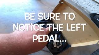 Changing out bike pedals on mountain bike