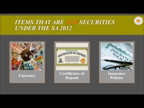 Types of Securities Part 1- Securities