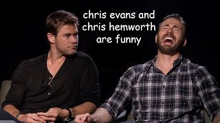 chris evans and chris hemsworth being a comedic duo