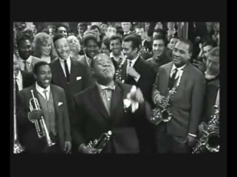 Battle Royal scene - Louis Armstrong, Sidney Poitier, and Paul Newman