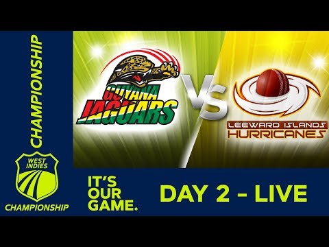 🔴LIVE Guyana vs Leeward - Day 2 | West Indies Championship | Friday 6th March 2020