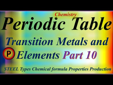 12C1210 Periodic Table : Transition Metals and Elements
