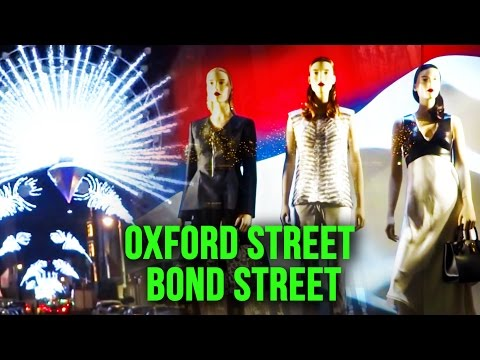 Christmas Shopping On Oxford Street & Bond Street. London ( West End ) UK