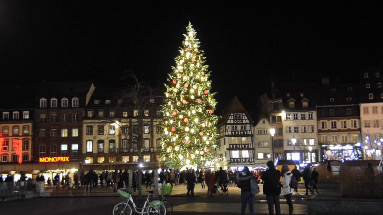 le sapin de noel et la place kleber strasbourg 2017 youtube. Black Bedroom Furniture Sets. Home Design Ideas