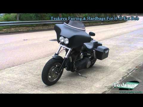 Tsukayu Fairing & Hardbags For H-D Fat Bob