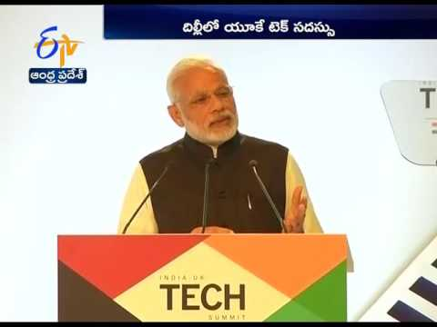 Modi and His Britain Counterpart Holds Joint PC at Hyderabad Bhawan