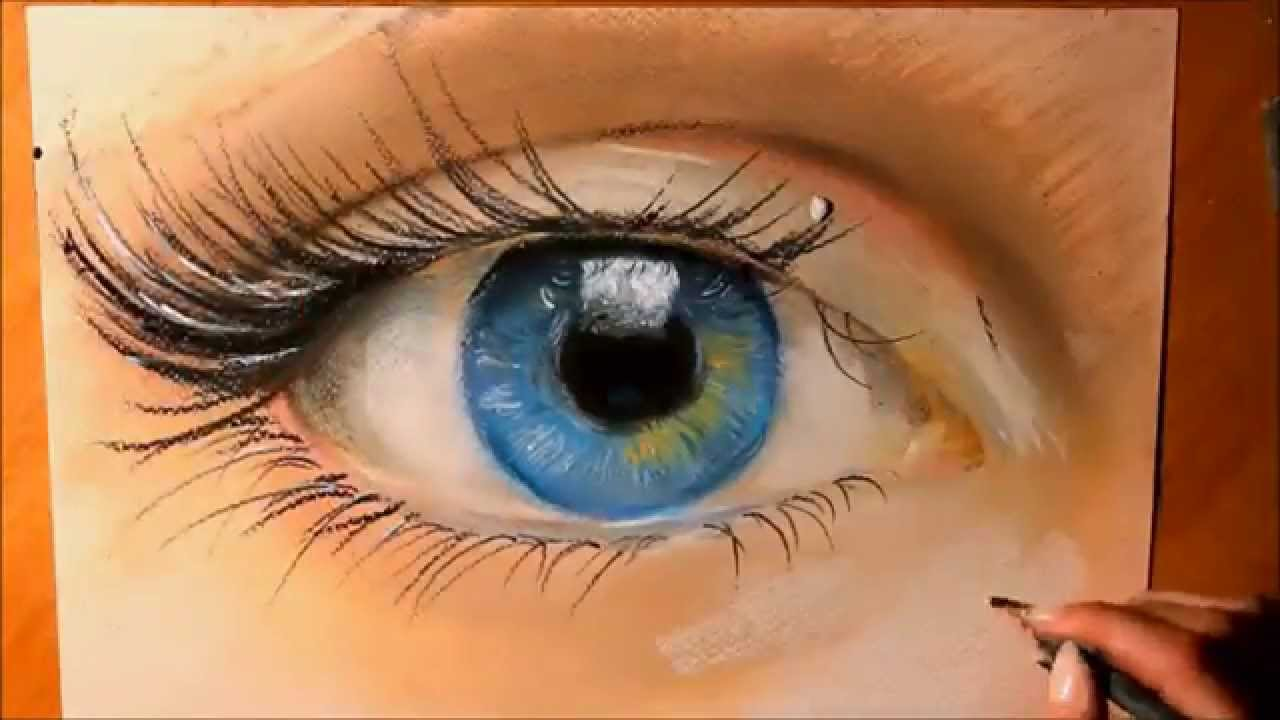 How to draw a realistic eye with pastels realistic art speed how to draw a realistic eye with pastels realistic art speed drawing youtube ccuart Images