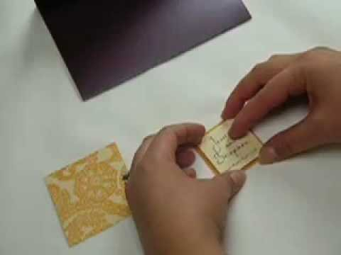 Assembling Pocketfold Wedding Invitations   YouTube. Envelopments Wedding Invitations. Home Design Ideas