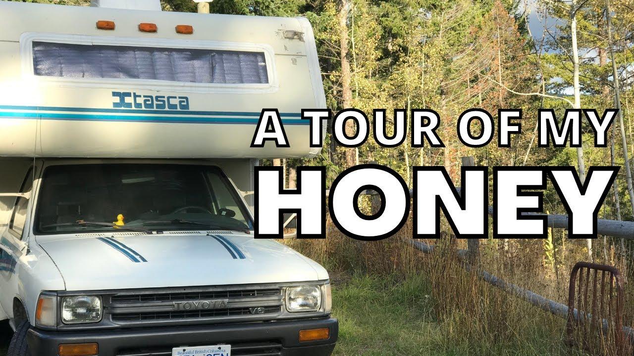 Tour Of Honey the RV-1992 Itasca Spirit Toyota Motorhome