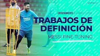 Messi marca varios goles en la práctica de Barcelona pensando en Rayo Vallecano