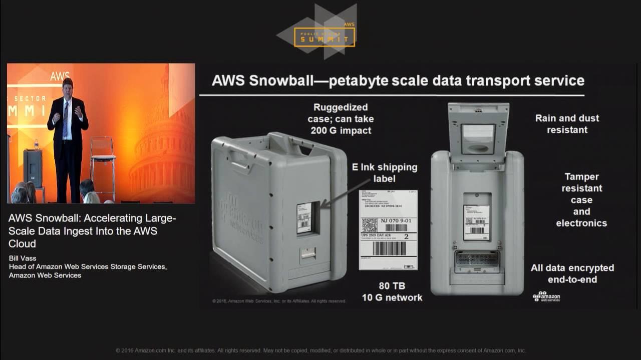 aws snowball  accelerating large