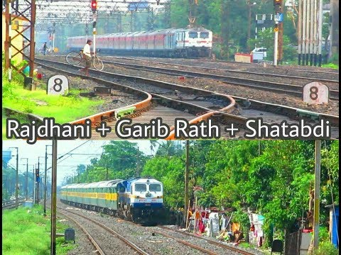 PREMIUM TRAINS  RAJDHANI + GARIB RATH + SHATABDI  WAP 7 + EMD ACTION  INDIAN RAILWAYS