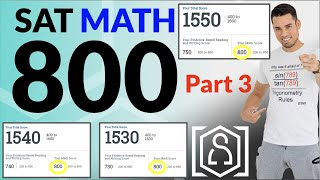 How to get a PERḞECT 800 on the SAT Math Section (Part 3): 14 Strategies to maximize your score