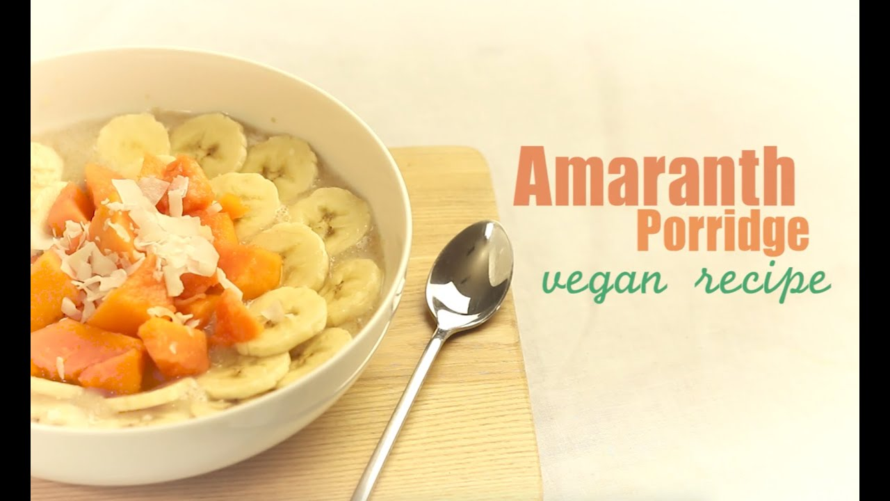 how to make vegan porridge