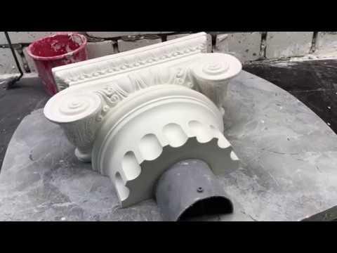 Форма из силикона для капители.