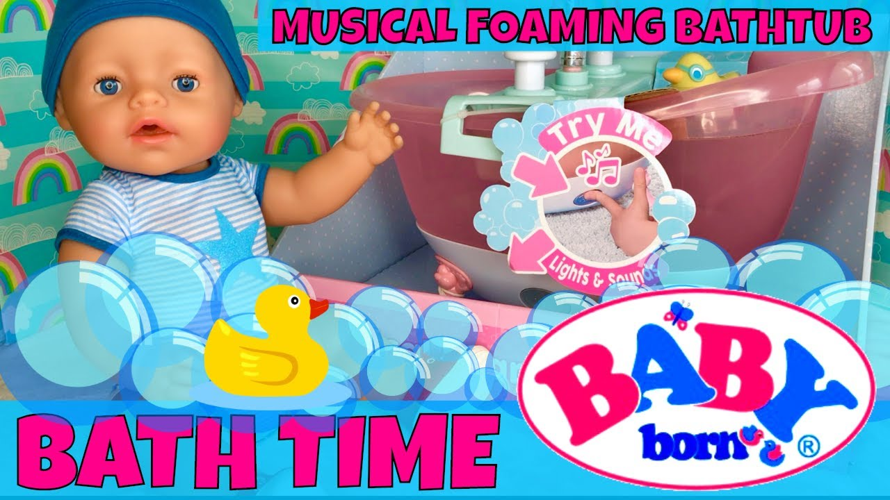 Baby Born Boy Doll Bath Routine & Name Reveal! 🛁Baby Born ...