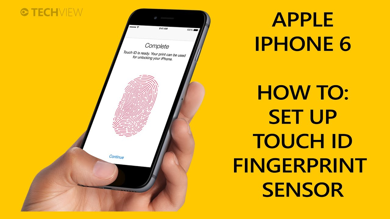 Apple iPhone 6 - Set up TouchID Fingerprint Sensor - YouTube