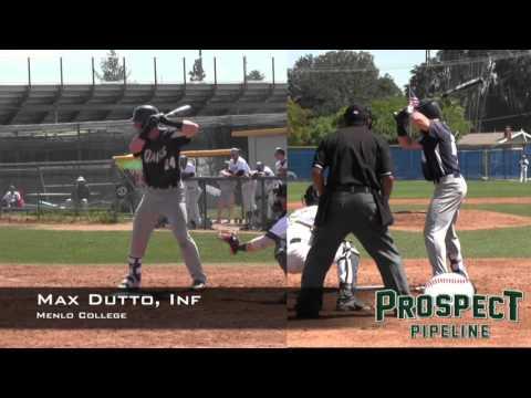 Max Dutto, Inf, Menlo College, Home Run vs Hope International