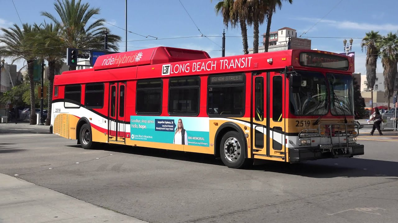 Long Beach Transit New Flyer Ge40lf Bus 2519 On The 151