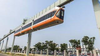 بالفيديو  أسرع مترو معلق في الصين