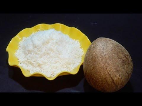 घर पर बनायें मार्केट जैसा नारियल का बुरादा - Nariyal ka Burada - Gole ka burada - Coconut Powder