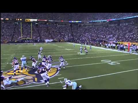 2009 NFL Divisional Playoffs - Cowboys at Vikings - 1st TD