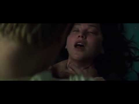Mockingjay part 1 - hijacked Peeta chokes Katniss full scene HD
