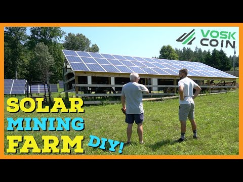 The BIGGEST DIY Bitcoin & Cryptocurrency SOLAR MINING FARM Tour!! ☀