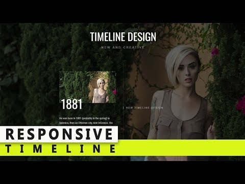 How To Create Responsive Timeline Design - CSS 3 Timeline - HTML CSS Timeline