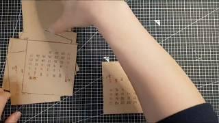 [만들기] 셀프제본/수제 탁상달력만들기 with 클릭링