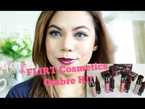 FLIRT Cosmetics Chic Happens Ombre Lip Kit Swatches And Demo - ELLAsDaily