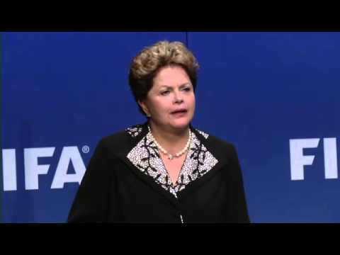 Brazil's president Dilma Rousseff and Fifa's Sepp Blatter discuss 2014 World Cup -- video
