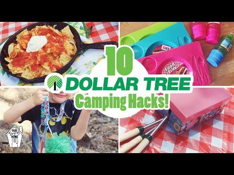 10 AMAZINGLY AFFORDABLE DOLLAR TREE CAMPING HACKS FOR SUMMER VACATION!!