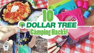 10 AMAZINGLY AFFORDABLE DOĻLAR TREE CAMPING HACKS FOR SUMMER VACATION!!