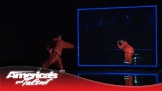 Kenichi Ebina - Robotic Dancer Performs Battle Against Himself - America's Got Talent 2013