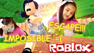 ROBLOX Escape from ZOO!! I can't get past the rocks!!! Girls today ❤❤