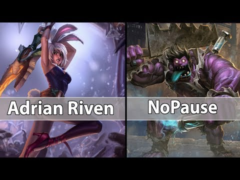 [ Adrian Riven ] Riven vs Dr. Mundo [ NoPause ] Top - Adrian Riven Challenger soloq time