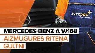 priekšā kreisais labais Riteņa rumbas gultnis uzstādīšana MERCEDES-BENZ A-CLASS (W168): bezmaksas video