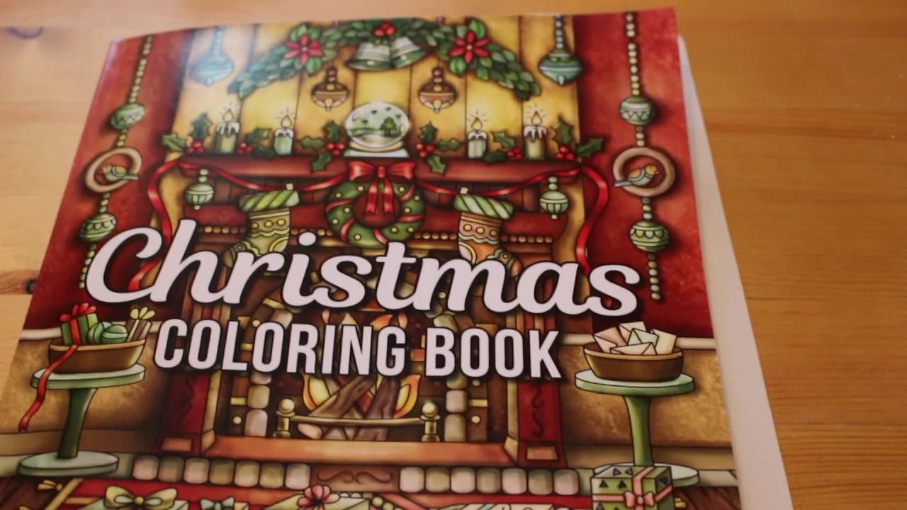 jade summer christmas colouring book flip through