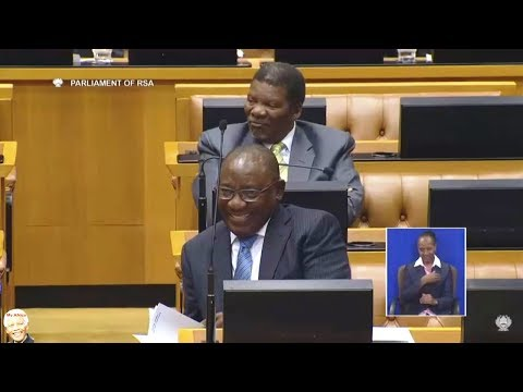 Cyril Ramaphosa Lectures Mmusi Maimane In Parliament