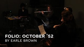 Southland Ensemble: October 1952 by Earle Brown