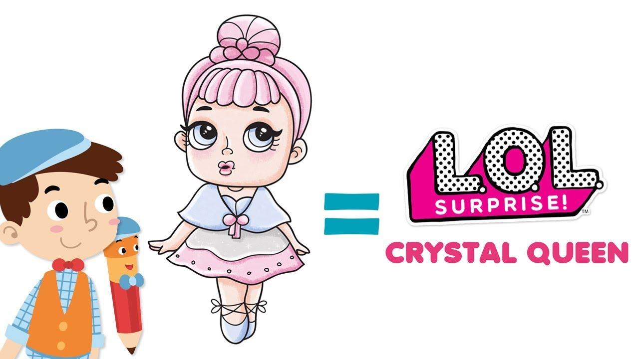 Crystal Queen Lol Surprise Doll Mewarnai Youtube