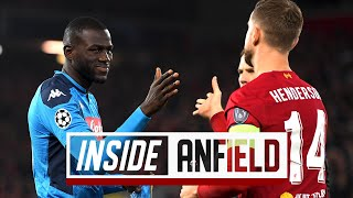 Inside Anfield: Behind-the-scenes of Napoli's visit to Anfield