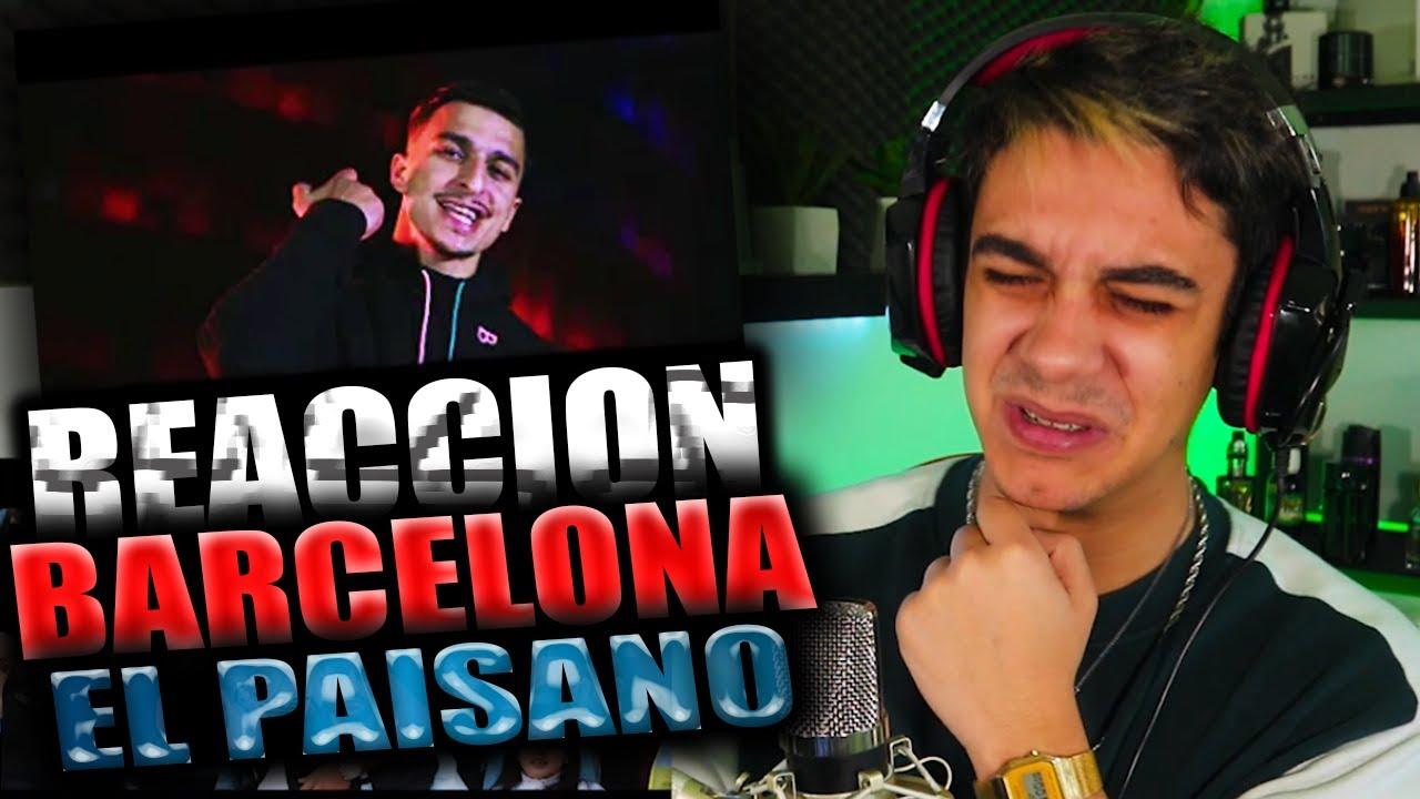REACCIÓN) El Paisano - BARCELONA (EXCLUSIVE Music Video) Prod By: Maestro -  YouTube