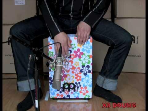 Meinl Headliner Designer Flower Power Cajon Demo b...